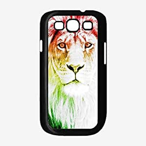 Trippy Lion TPU RUBBER SILICONE Phone Case Back Cover Samsung Galaxy S3 I9300 by lolosakes