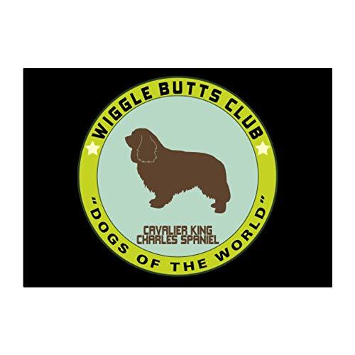 Teeburon Cavalier King Charles Spaniel Wiggle Butts Club Pin Sticker Pack x4 6