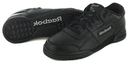 Reebok-Scarpe da ginnastica da uomo, colore: nero classico, colore: nero, taglia 12