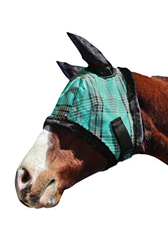 Kensington Fly Mask with Fleece Trim and Soft Ears — Allows Full Visibility with Maximum Protection  — Features Original Double Locking System — UV Protection with Comfortable Fleece Trim by Kensington Protective Products (Image #4)