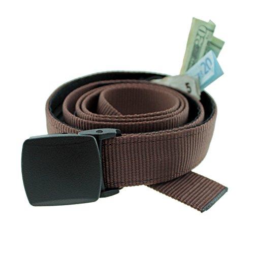 Big & Tall Trekker Money Belt Made in USA by Thomas Bates … (Brown)