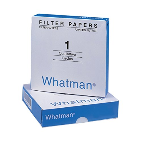 GE Whatman 1001-090 Qualitative Filter Papers, Grade 1: 11 um, 90 mm, Paper (Pack of 100) by GE