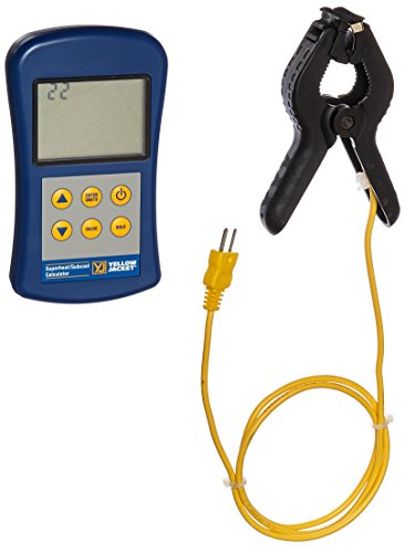 Yellow Jacket 69196 SuperHeat/SubCool Calculator with Thermometer and P/T Chart by Yellow Jacket
