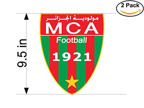 fan products of Mouloudia Club Alger Algeria Soccer Football Club FC 2 Stickers Car Bumper Window Sticker Decal Huge 9.5 inches