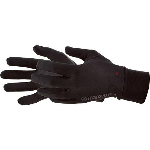 Manzella Liner Glove - Manzella Men's Ultra Max Gloves, Black, Large/X-Large
