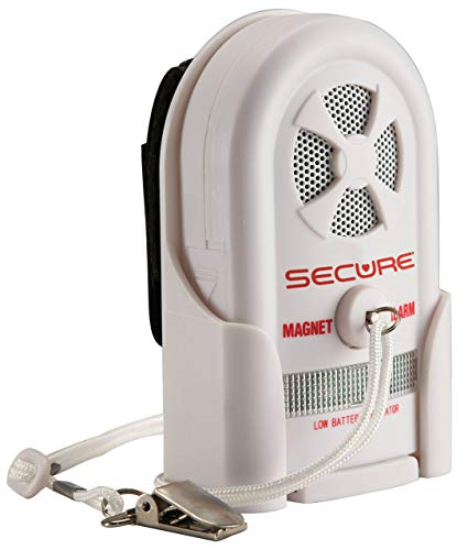 Secure MAG-3 Magnet Pull Cord Alarm for Fall Management and Wandering Prevention - Wheelchair or Chair Caregiver Alert Patient Monitor Elderly Dementia Safety Aid - Batteries Included