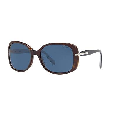 88499428258523 Amazon.com  Prada PR08OS 2AU1V1 Havana PR08OS Square Sunglasses Lens ...