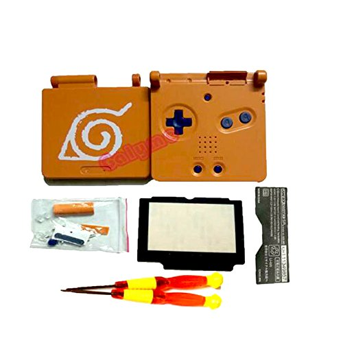New for Gameboy Advance SP for GBA SP Full Housing Shell Case for Chinese Dragon /Naruto Orange /Red Black (Naruto)