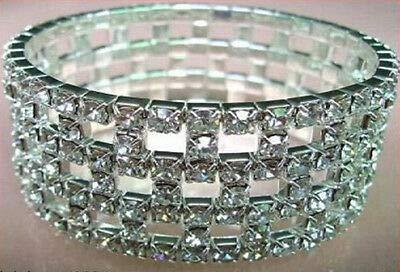 FidgetFidget New Lot Rows Hollow Fancy Stretchy More Styles Crystal Rhinestone Bracelets 12 Pcs #14