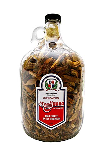 DON RAMON Mamajuana (TRADITIONAL FLAVOR) 1/2 Gallon Jug with Extra Cinnamon and Uña de Gato. 3 Recipes Included.