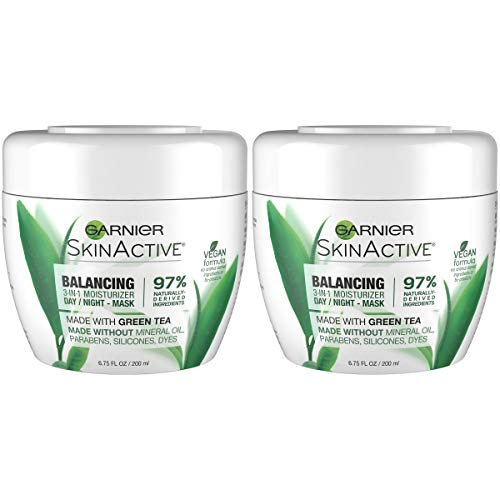 Garnier SkinActive 3-in-1 Face Moisturizer with Green Tea, Oily Skin, 6.75 fl. oz. (Packaging May Vary), 2 Count