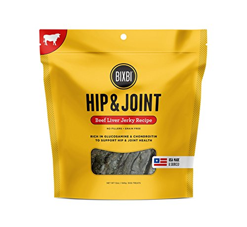 - Bixbi Dog Jerky Treat, Hip & Joint, Beef Liver, 12 Ounce