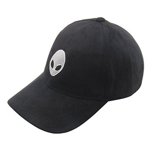 Alien Hat (LeucosTicte Aliens Outstar Saucer Space E.T Black Fabric Baseball Cap Hat)