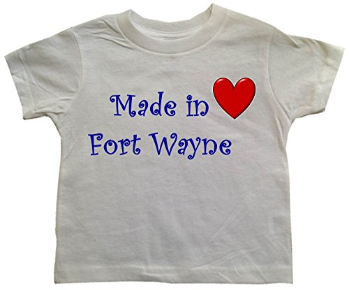 MADE IN FORT WAYNE - FORT WAYNE TODDLER - City-series - White Toddler T-shirt - size Small (2T)