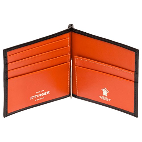 Money Sterling Black Ettinger Ettinger Men's Men's Orange Sterling Clip Wallet z6xAxXI