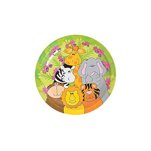 Fun Express - Zoo Animal Birthday Dessert Plates for Birthday - Party Supplies - Print Tableware - Print Plates & Bowls - Birthday - 250 Pieces ()