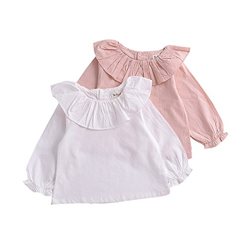 Infant Girls Long Sleeve Top - Baby Girls T Shirt Long Sleeve Solid Infant Tops Cotton Toddler Casual Blouse Summer Tee