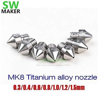 Laliva Impresora 3D - 5 piezas MK8 aleación de titanio/boquilla de ...