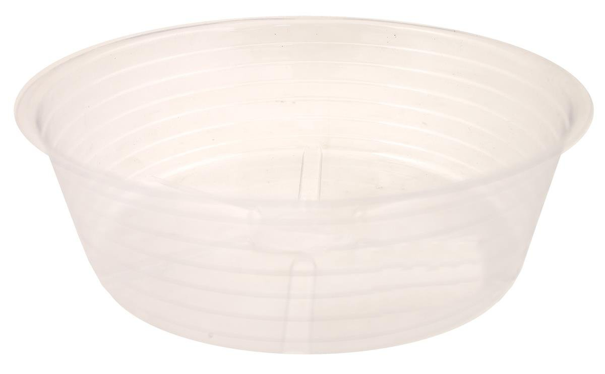 Bond 10in. Deep Dish Clear Plastic Saucers CVS010DL - Pack of 25