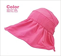 fe706f314dc Summer Korean Style Topless Foldable UV Women Sun Beach Hats Anti Sun UV  Color Rose Red Apparel