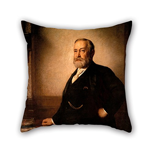 TonyLegner Oil Painting Eastman Johnson - Benjamin Harrison Throw Cushion Covers 20 X 20 Inches / 50 by 50 cm for Saloon Bench Family Home Office Outdoor Adults with 2 -