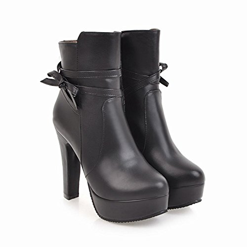 Women's Boots Carolbar Dress Zip Black Elegant Platform Bow 7W16q