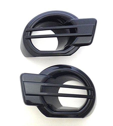 Black Glossy Fog Lamp Spot Light Cover Trim For Ford Ranger T6 2012-2014 Pick-Up 2 Door 4 Door