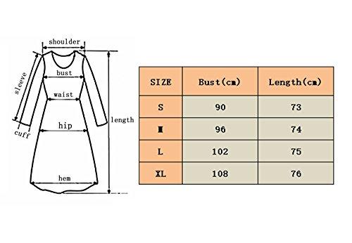 Manica shirt Autunno Camicia E A In Mezza Maniche T Corte Yuch Green Estate Donne Stampata Semi Allentati 1q4AUI