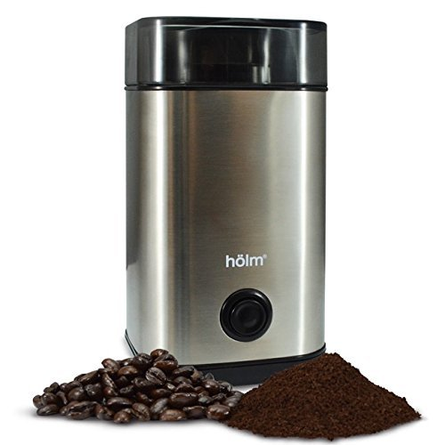 Holm Stainless Steel Electric Coffee Bean Grinder by Decker Kitchenware