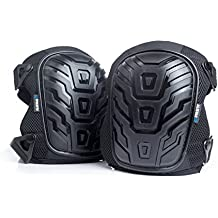 Alistar Professional Knee Pads with 50% Thicker Improved Quality Foam Padding and Gel Cushion Core, Dual Elastic Straps and Easy-Fix Clips Allow Quick Adjustments For Home and Work