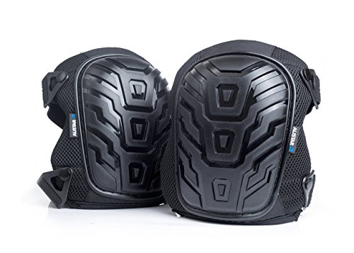 Alistar Professional Knee Pads with 50% Thicker Improved Quality Foam Padding and Gel Cushion Core, Dual Elastic Straps and Easy-Fix Clips Allow Quick Adjustments For Home and Work by Alistar