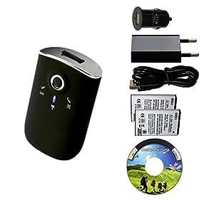 Bluetooth GPS Receptor/ Registrador GT-750FL, conjunto con adaptador de energía USB y 2 baterias / USB GPS grabador, 65 canales, 256.000 puntos de referencia