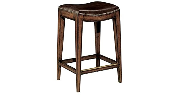 Amazing Amazon Com New Woodbridge Bar Stool Brown Leather Saddle Uwap Interior Chair Design Uwaporg