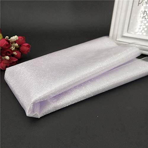 Miao Express 5M48cm High-Density Organza Wedding Background Veils Wedding Chair Back Gauze Check-in Table Layout Arch Yarn -