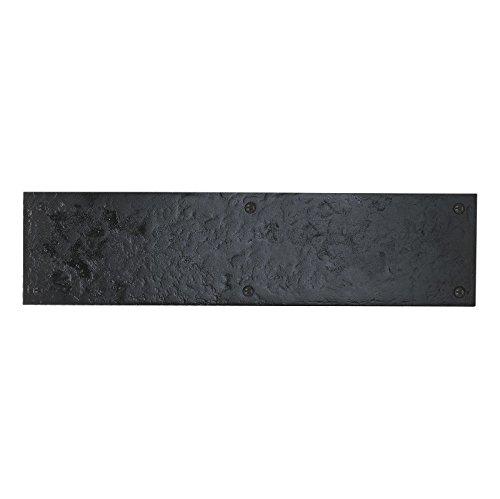 Finger Push Plate Heavy Duty Cast Iron Black Antique from EUROART