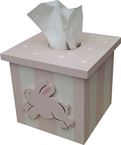 oden Hand Painted Kids Tissue Box Cover, Custom Colors Available!!! (Tissue Bunny)