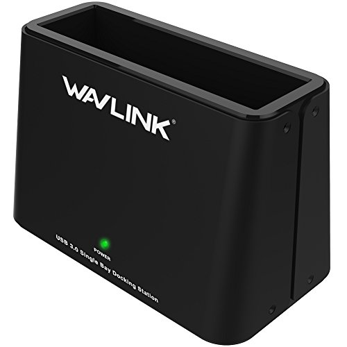 Wavlink USB 3.0 to SATA External Hard Drive Docking Station for 2.5 / 3.5 Inch SATA I/ II/ III HDD SSD , Support 8TB and UASP, Tool-Free- Black