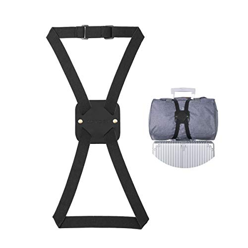 Bag Bungee, Luggage Bungee - Luggage Straps Suitcase Adjustable Belt - An Adjustable and Portable Travel Suitcase Accessory (1-pack,Black)