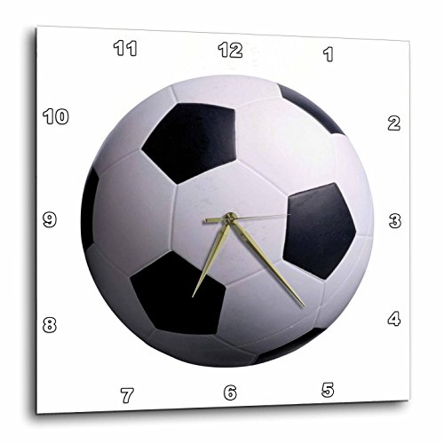 3dRose Soccer Ball Wall Clock, 10 by 10-Inch by 3dRose