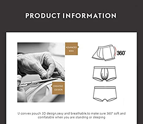 WW Mens Butt and Front Enhancing Padded Hip Briefs Underwear Solid Color Invisible Padded Detachable Hip 2Pack,XL