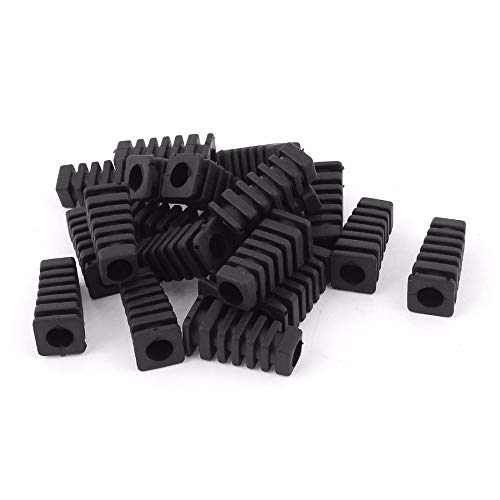 - SMALL-CHIPINC - 20pcs Mini Rubber Square Strain Relief Cord Boot Protector Cable Sleeve Hose for Power Tool 27x9x6mm Size