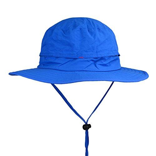 Flammi Outdoor UPF 50+ Summer Sun Bucket Hat UV Protective Boonie Hat Fishing Hat (Blue) (Women Blue Bucket Hats)