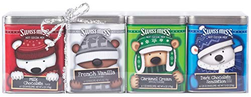 Hot Chocolate Tin - Swiss Miss Cocoa Bears With Hats Tin Collection, 6 oz