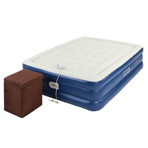 Coleman Queen Air Mattress with Ottoman by Aero (Image #1)