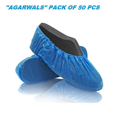 Agarwals™ Disposable Safety Shoe Cover 30 Micron Anti-Slip Water Resistant Boot Protector for Hospital, Labs, Workplace, Indoor & Rain (50 Pcs) Price & Reviews