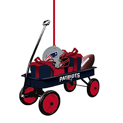 Team Sports America 3OT3818WGN England Patriots Team Wagon Ornament