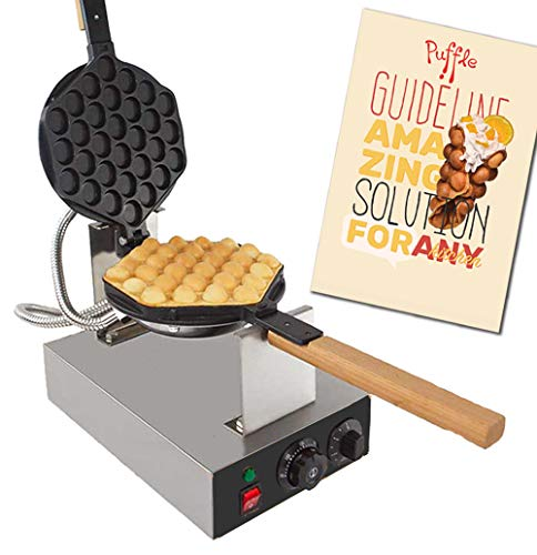 Cheap ALD Kitchen IMPROVED Puffle Waffle Maker Professional Rotated Nonstick ALD Kitchen (Grill/Oven for Cooking Puff, Hong Kong Style, Egg, QQ, Muffin, Eggettes and Belgian Bubble Waffles) (220V EURO Plug)