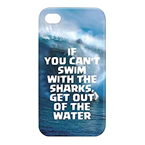 Loud Universe Apple iPhone 4/4s 3D Wrap Around If You Cant Swim Print Cover - Blue/White