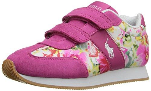 Polo Ralph Lauren Kids Duma EZ P M/P FLR-WHT Fashion Sneaker (Toddler/Little Kid), Pink/Pink Floral, 1 M US Little Kid