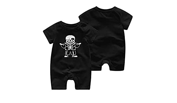 Undertale Sans Newborn Cotton Long Sleeve Onesies for Baby Boys /& Girls
